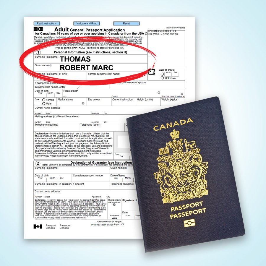 Passport Canada On Twitter Apply In Your Full Name As It Appears