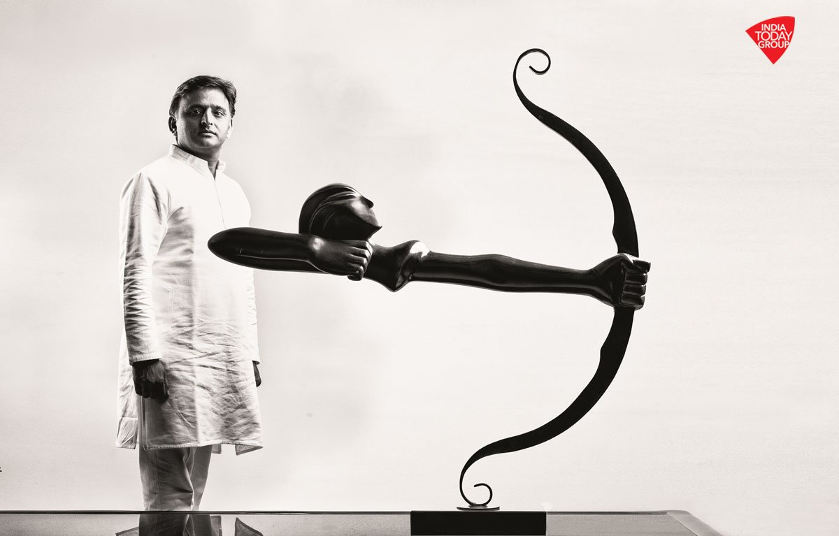 How the UP CM @yadavakhilesh is battling against a tough opposition.  Read #IndiaTodayMagazine  Pic: Bandeep Singh