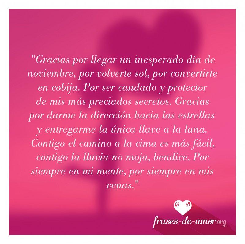 Frases De Amor Sur Twitter Gracias Por Llegar Un