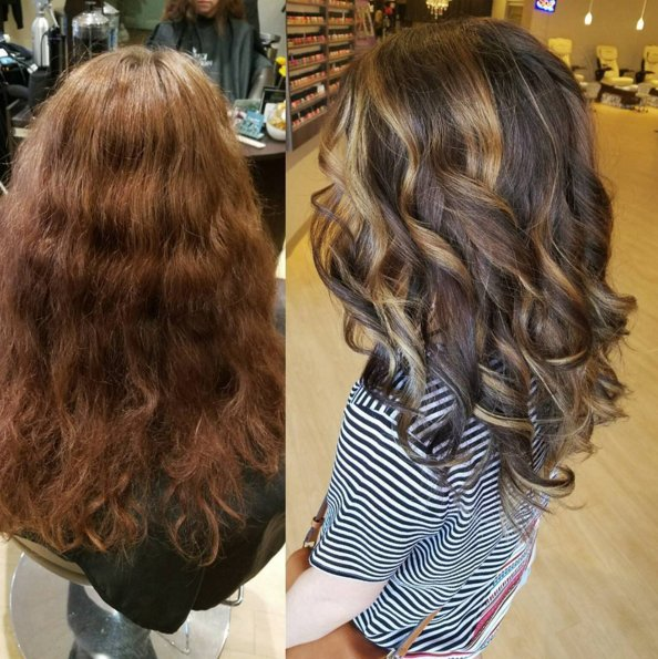 Kenra Professional On Twitter Jasmine Used Kenracolor No Ammonia Lightner 5b 6b 5a Base Throughout Toned With Bronze Metallics