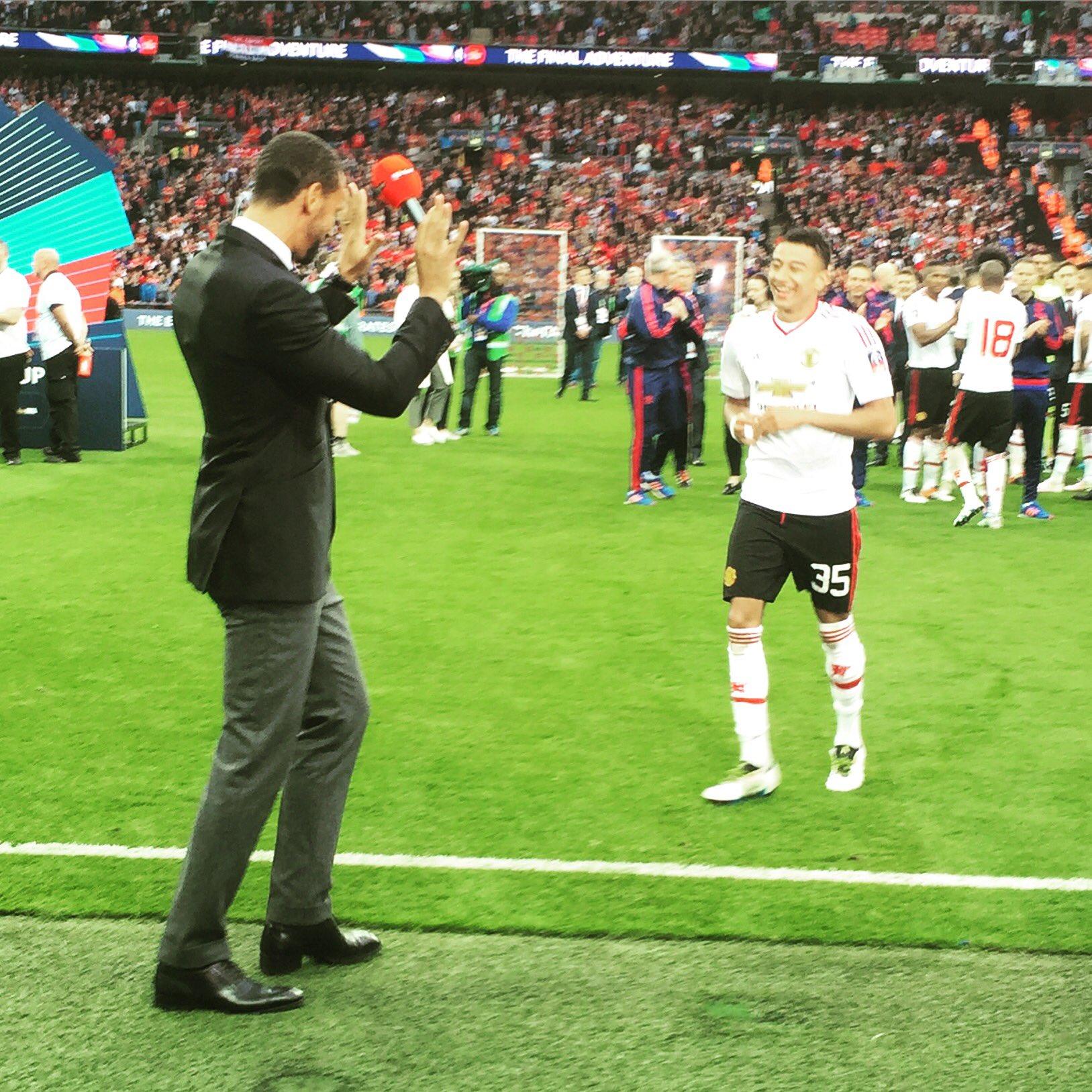 Match winner... Joke of a finish! #MUFC 🏆 https://t.co/SbzQv59NU7