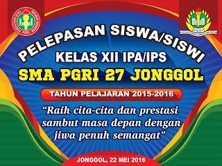 Banner Pelepasan Siswa kelas 12