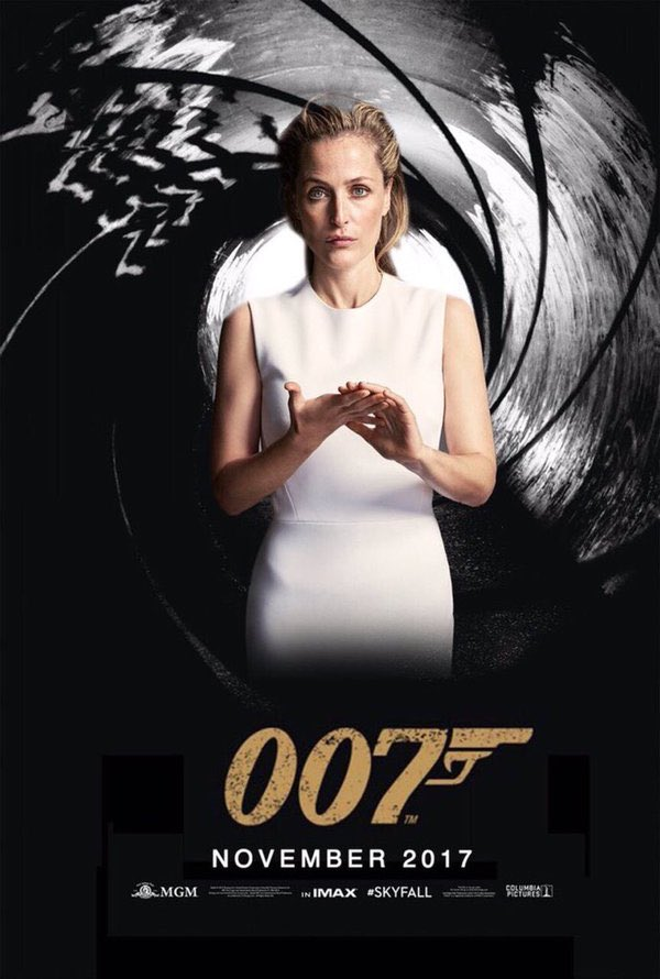 Bond, Jane Bond. #JaneBond The hashtag #NextBond is trending and fans want to see Gillian Anderson as the next 007. https://t.co/SEUE9mmE8L