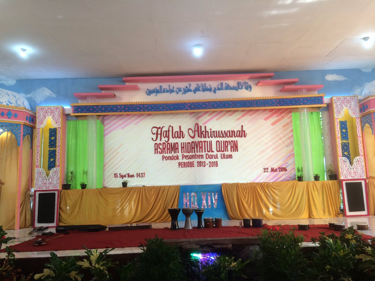 Ghozi Aminulloh On Twitter Haflah Akhirussanah Asrama Hidayatul Quran