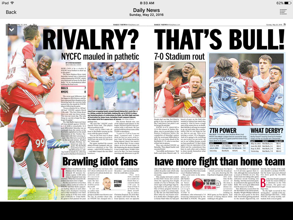 Love the headline in today's @NYDailyNews #NYDerby #NYisRED https://t.co/39GJcIT0qT