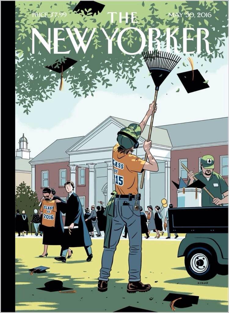 Tardas unos microsegundos en pillar el portadón del 'New Yorker'. https://t.co/USx1uayP90