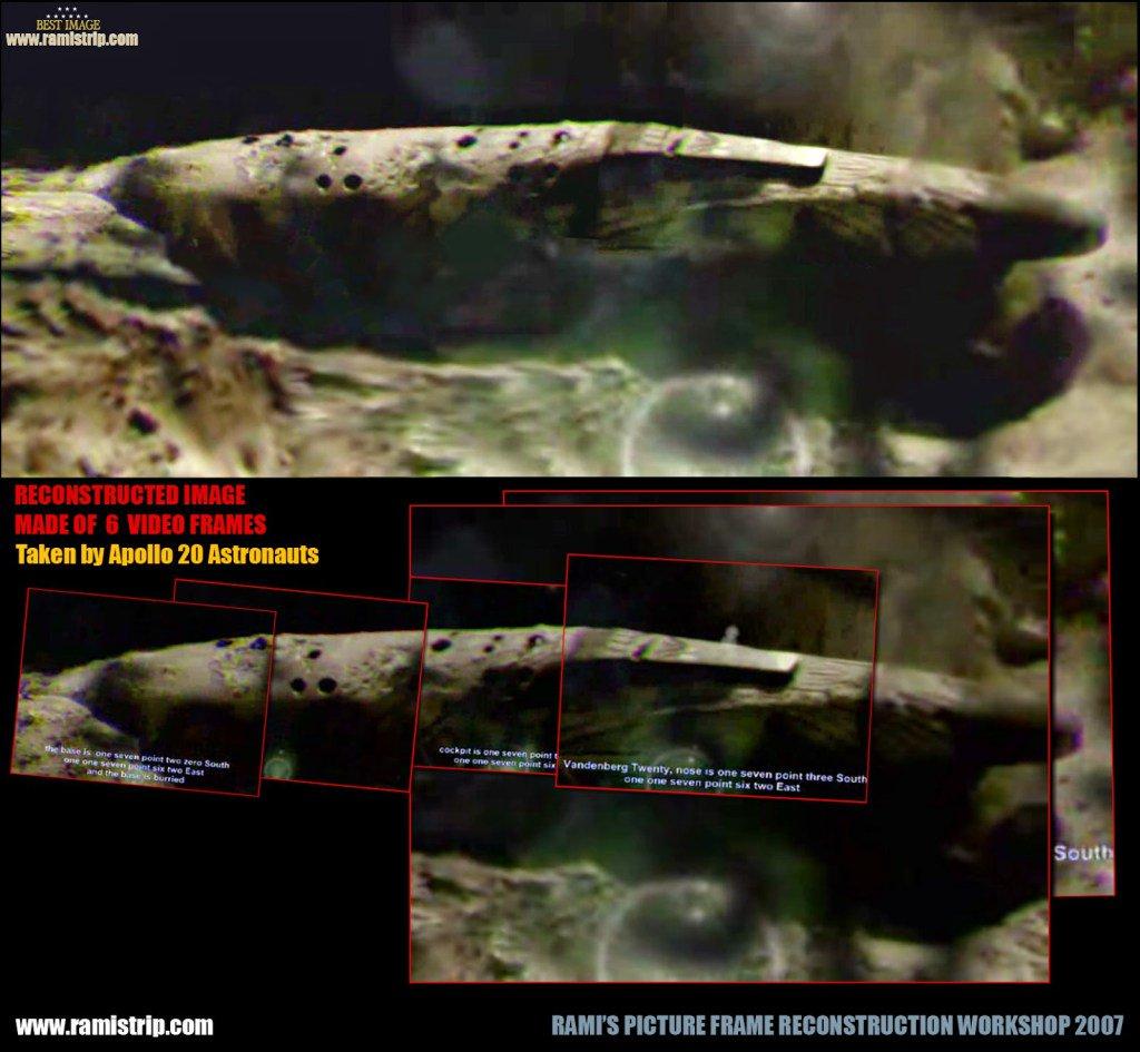L'astronave aliena incontrata da Apollo 20 sulla Luna.