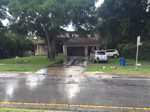 Three people, dog are safe following Oldsmar house fire