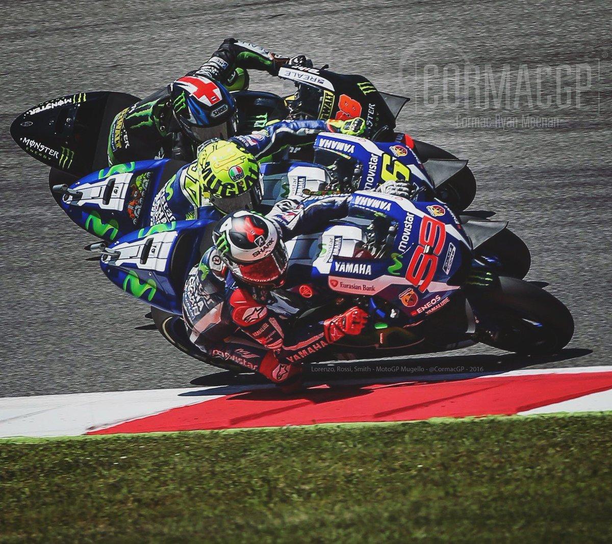 Mugello @MotoGP ! @lorenzo99, @ValeYellow46 & @BradleySmith38 this afternoon ! https://t.co/w443Gsl4ol