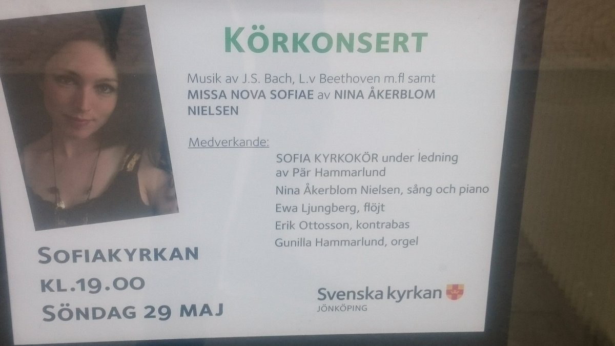 #Konsert #Sofiakyrkan #Jönköping #Jkpg  @InkUtv @lenarrrt