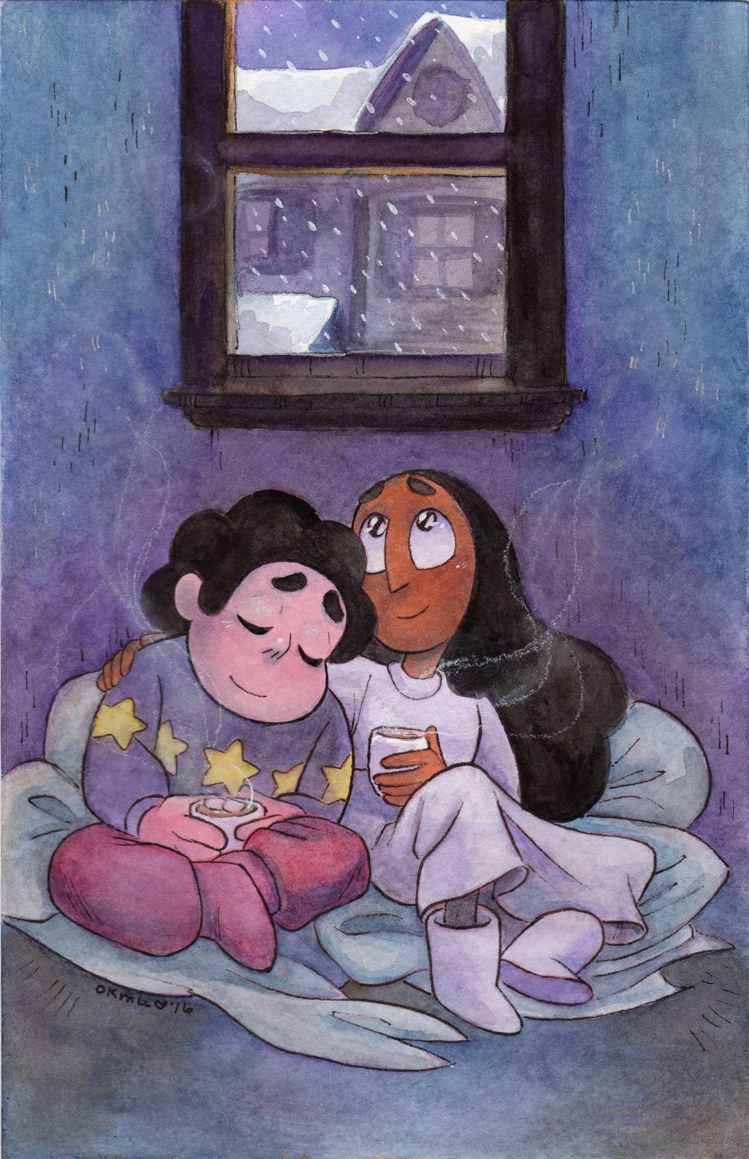 """Summertime's right around the corner, but it still feels a lot like cuddle weather! #StevenUniverse #Connie"""