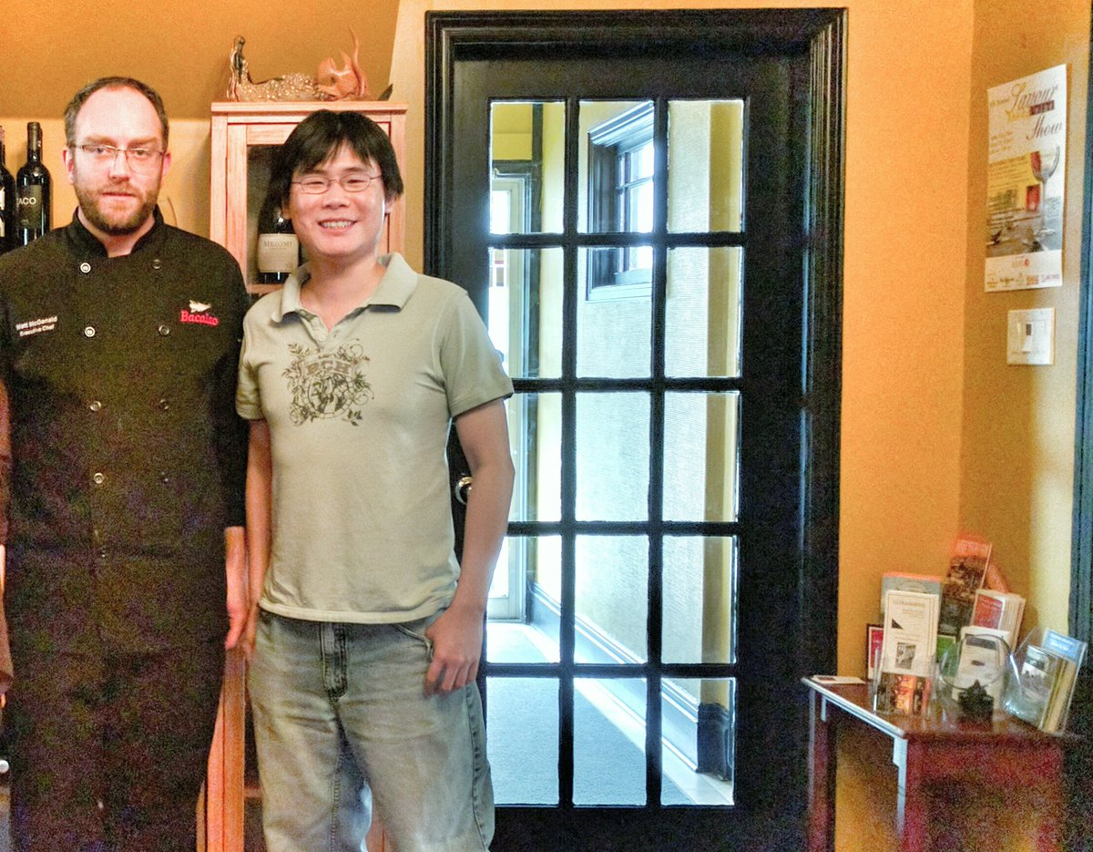 Chef Matt McDonald with Travelling Foodie at Bacalao, St. John's, Newfoundland