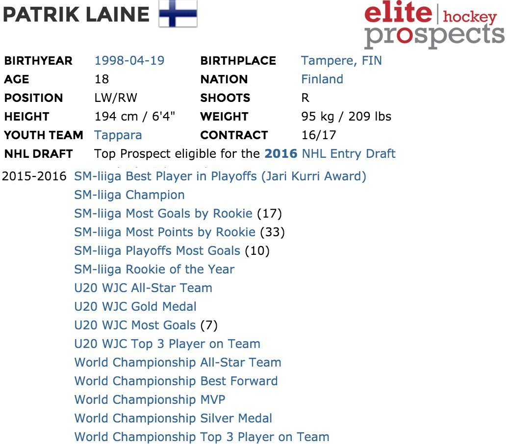 How about Patrik Laine's season? #nhldraft