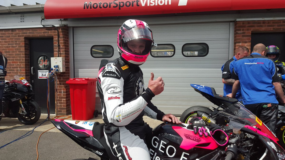 Held are proud to supply racer Leon Jeacock