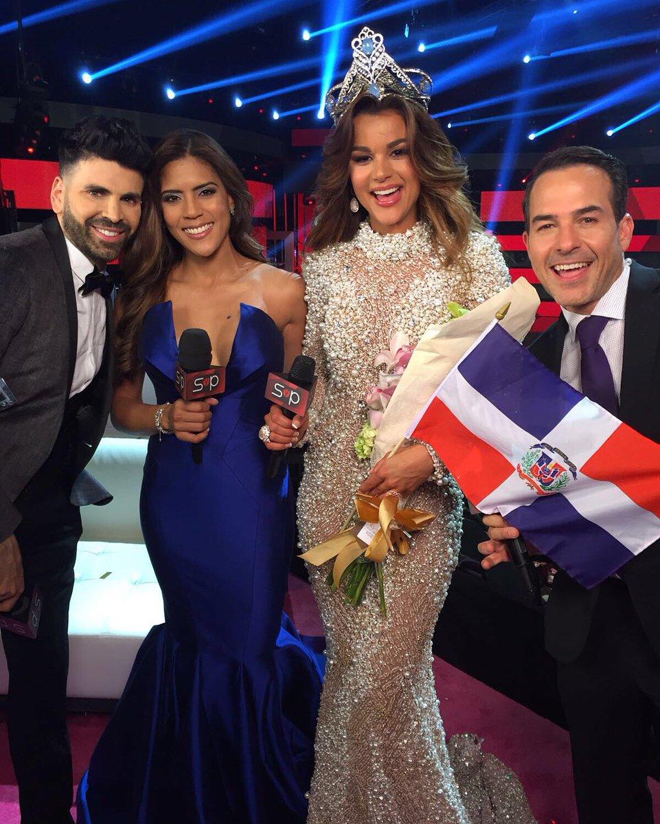 Juntas las reinas dominicanas @franciscaNBL y @ClaryMolinaRD @NuestraBelleza @Jomarigoyso @CarlitosTwit @Univision https://t.co/QYt01HFtQS