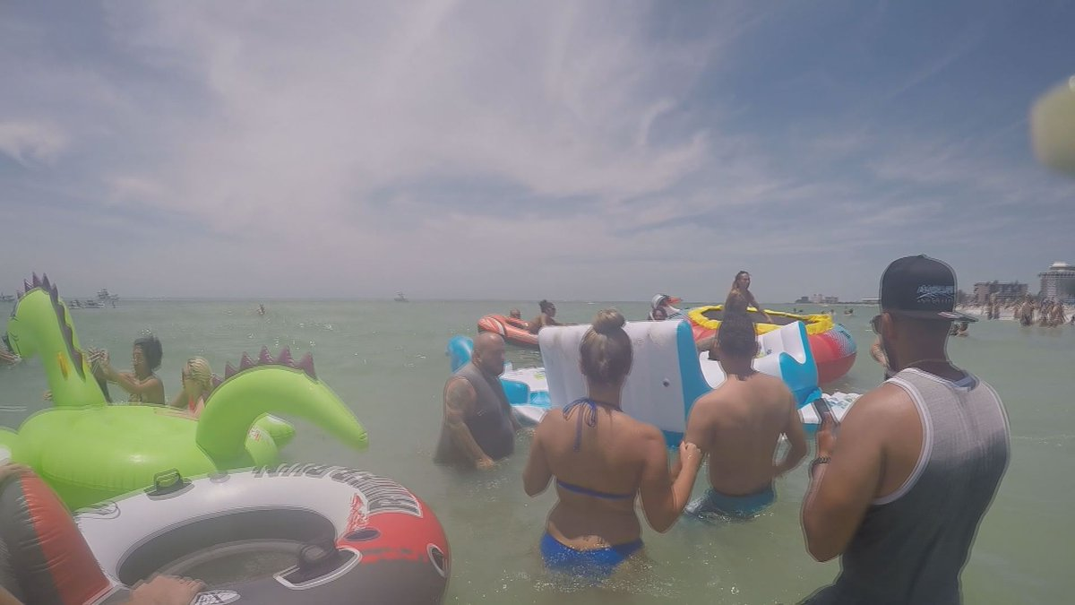 Towing and trash: two concerns from St. Pete Beach float party