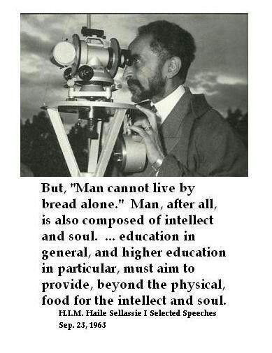 """Haile Selassie I on Twitter: """"Higher education must aim to provide beyond  the physical.… """""""