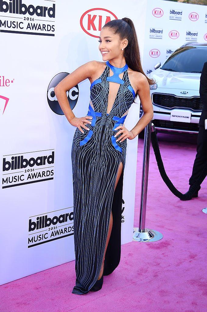 .@Ariana Grande was flawless in #AtelierVersace at the Billboard Music Awards. #VersaceCelebrities #BBMAs
