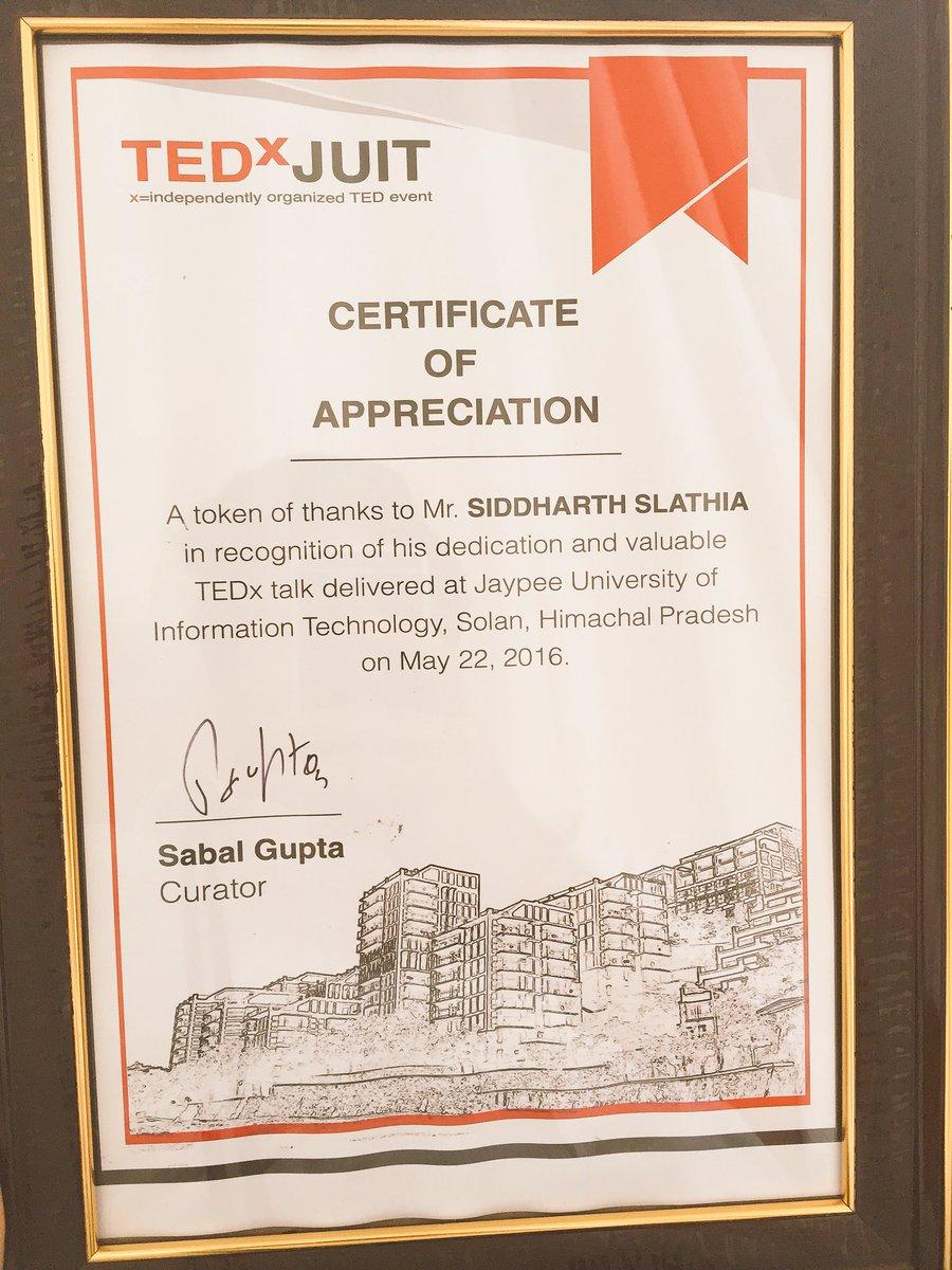 token of appreciation certificate