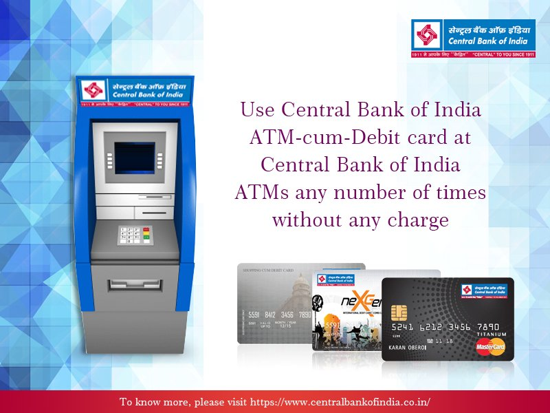 New atm card central bank of india