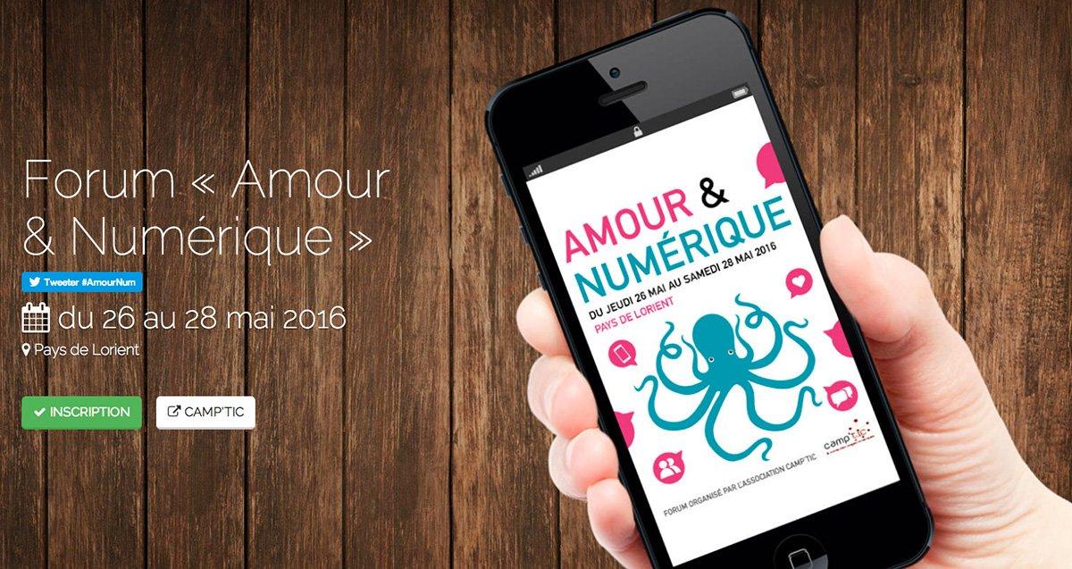 Amour et Numérique du 26 au 28 mai à Lorient, 1er forum en France sur ce thème! https://t.co/aPsfnl07gB #AmourNum https://t.co/OQFFtI4fYS