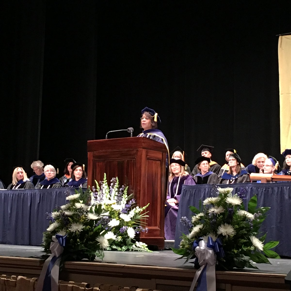 """Leadership is in your DNA."" - Dr. Bernice Coleman, 2016 Commencement Address https://t.co/RDuTpsjiCe"