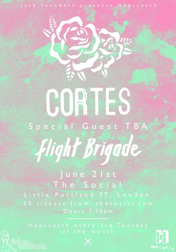 .@ukhopscotch #6 will see @cortesband @FlightBrigadeHQ play @thesociallondon on 21/06 https://t.co/abGXz11Ysk https://t.co/uLtPGo73pz