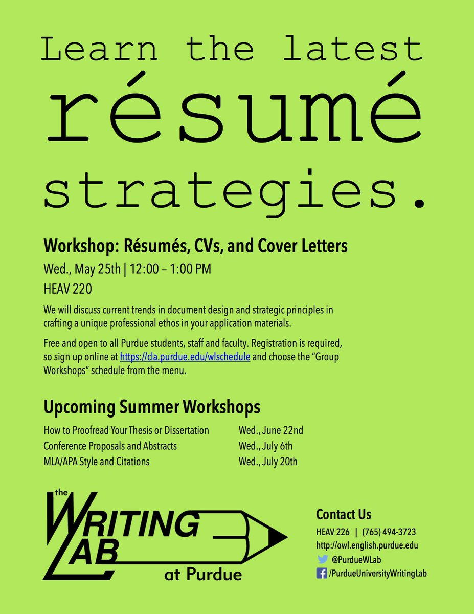 Purdue Writing Lab On Twitter Tips Resume Design This