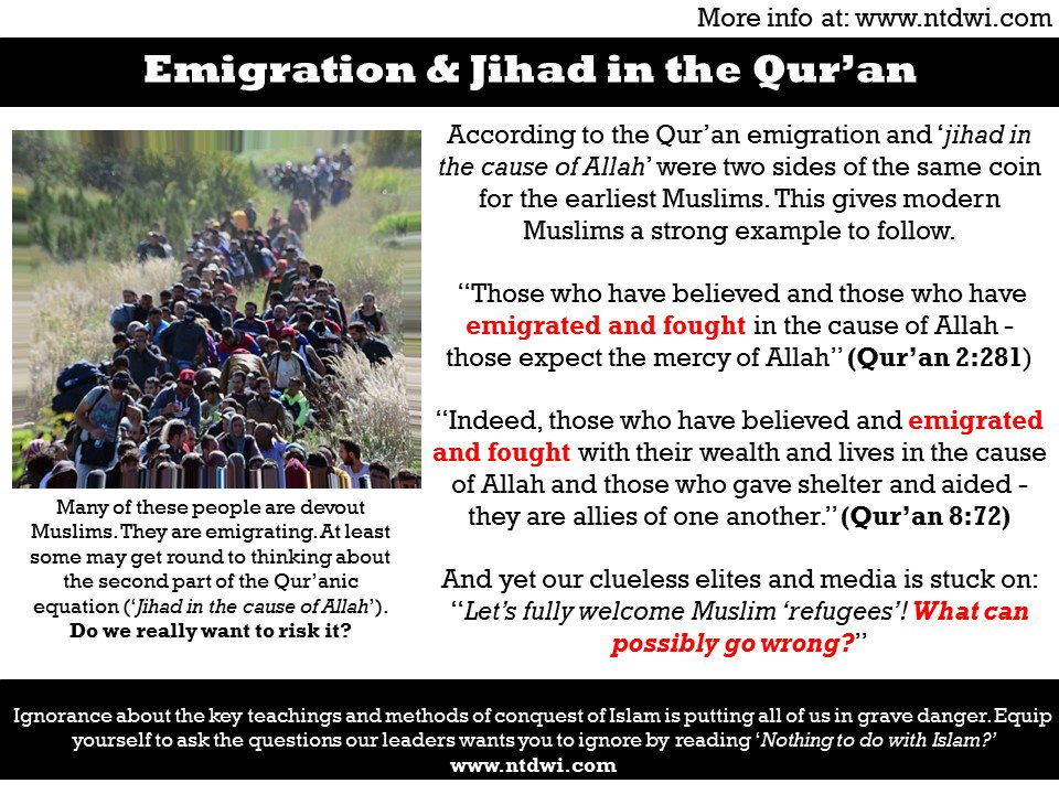 The Qur&#39;an on #Jihad and Emigration;  #londonbridgeattack #londonbridge  #tcot  http:// ptbooks.info/248-2  &nbsp;  <br>http://pic.twitter.com/7779T1WW5F