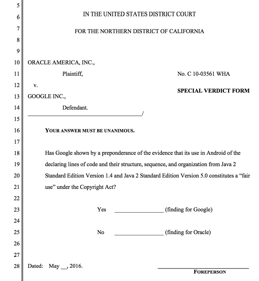Thumbnail for Oracle v. Google - Closing Arguments