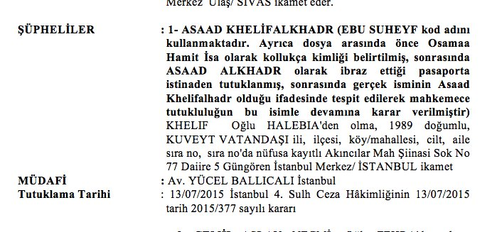 9) 27-yr old Ebu (or Abu) Suheyf was listed in his passport as Asaad Alkhadr. He is No.1 suspect in #ISIL case. https://t.co/aMwPCfhYKL