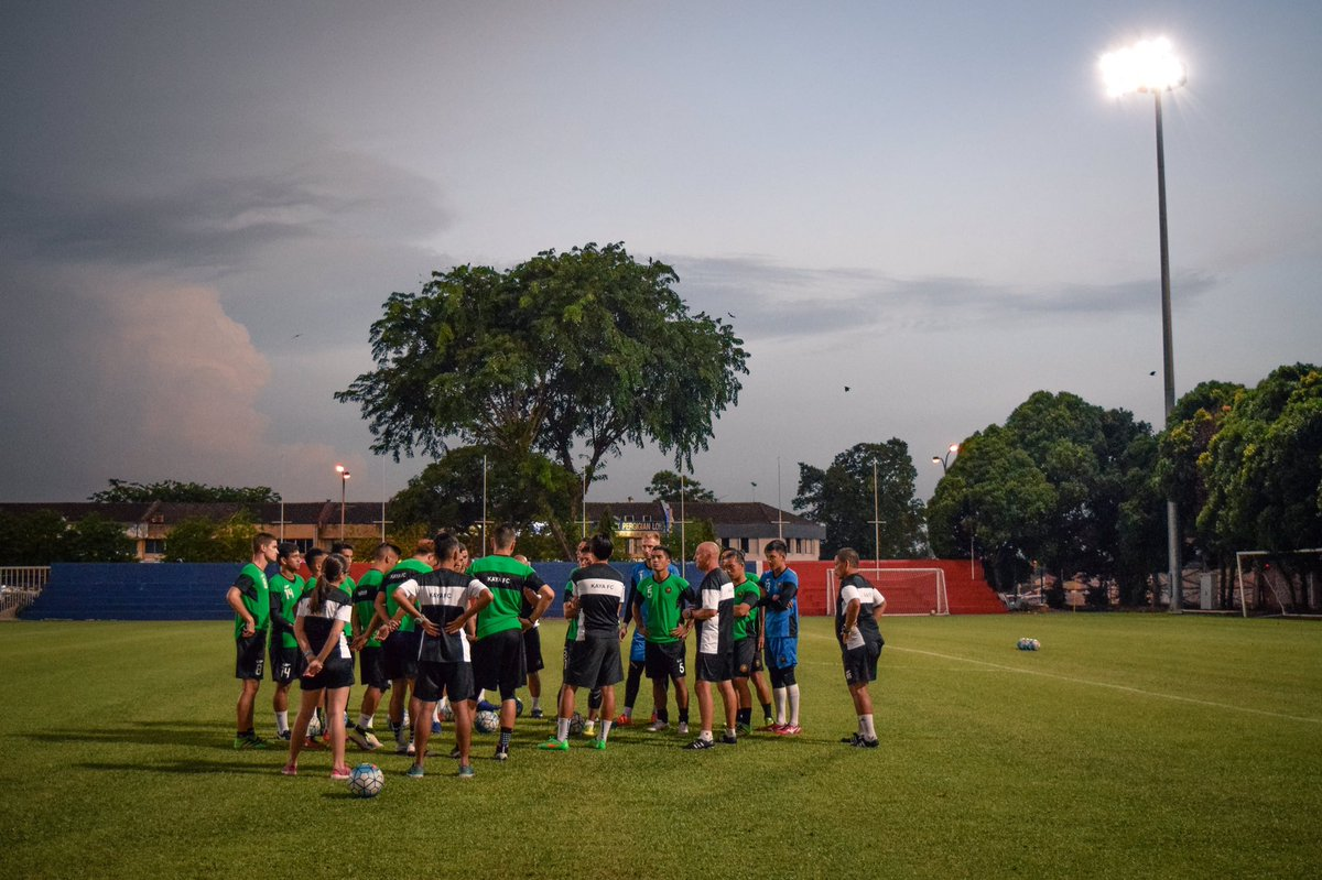 Training at Taman Ungku Tun Aminah (TUTA) Stadium on May 23. Our round of 16 match is just around the corner. https://t.co/mgBqTXogrq