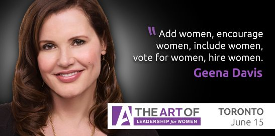 """Add women, encourage women, include women, vote for women, and hire women"" - @GDIGM #TheArtOf #quotes https://t.co/YRixtommJf"
