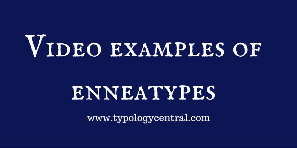 Video examples of #enneatypes #MBTI #personalitytype #typologycentral https://t.co/7iS7okLmzh https://t.co/CqVpfR5DBT