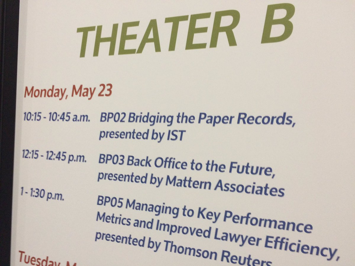 Come learn with us in the Exhibit Hall at Business Matters! sessions. #BizLaw16 Full schedule on the app. https://t.co/xcywhIdfpt