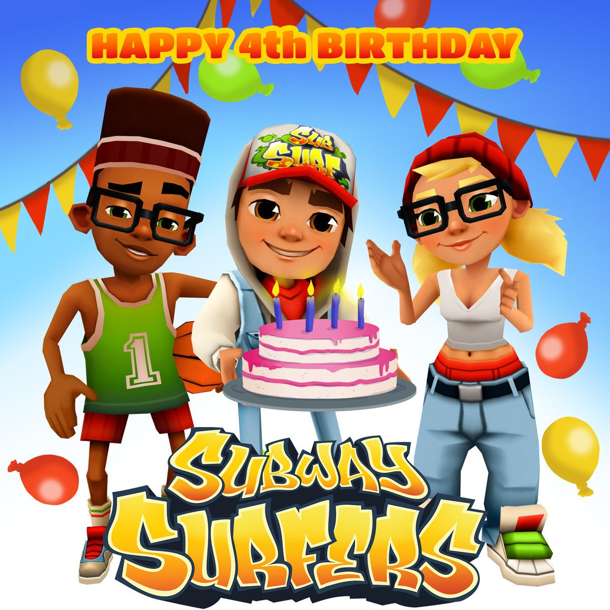 """SYBO On Twitter: """"Happy Birthday To Subway Surfers! A Warm"""