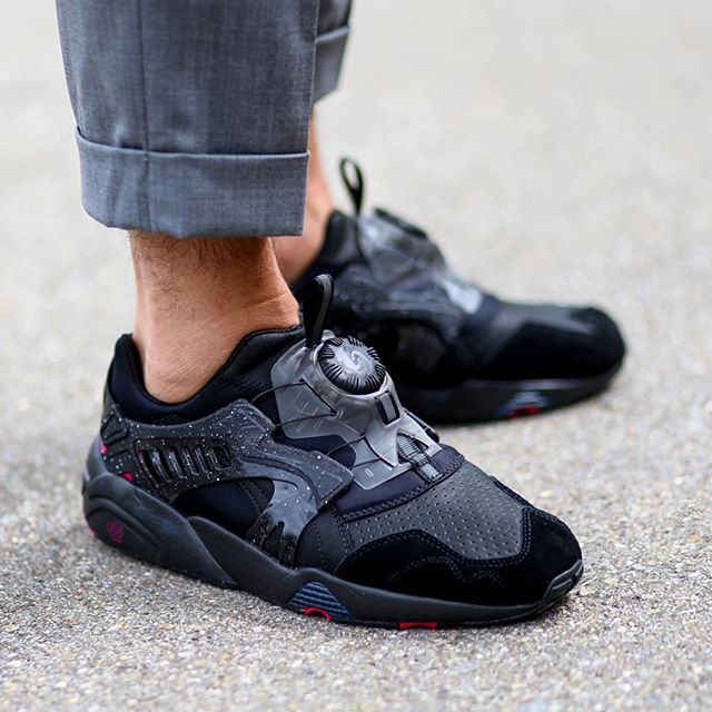puma disc blaze on feet