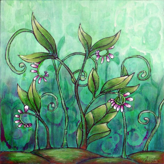 Mixed media floral painting, COMFREY https://t.co/AXc282281j #ooak https://t.co/Didj6MKweN