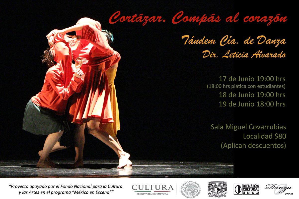 Estreno este 17, 18 y 19 de junio en la #SalaMiguelCovarrubias del #CCU #CortázarCompásalcorazón #TándemCíadeDanza pic.twitter.com/EmOXKlG31V