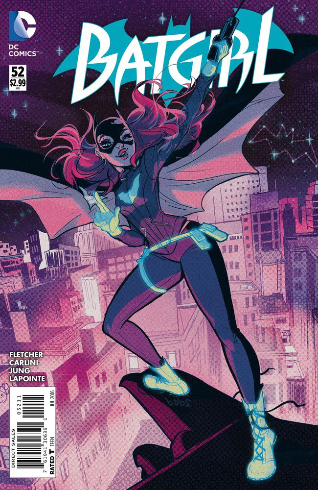 BATGIRL 52 PREVIEW! Guest starring Black Canary, Spoiler, Vixen, Bluebird + Olive & Maps!