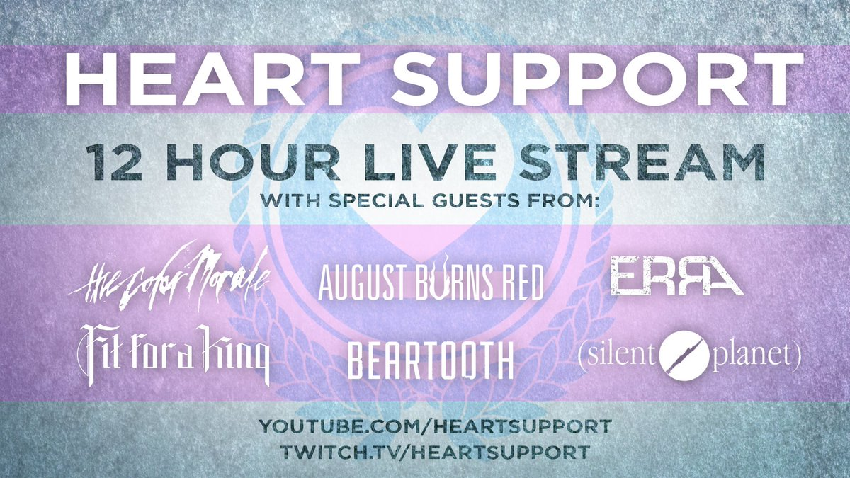 Heartsupport On Twitter We Are Doing A 12 Hour Twitch Stream This Friday Starting At 10 Am Pst 12 Pm Cst W Some Of Your Favorite Artists