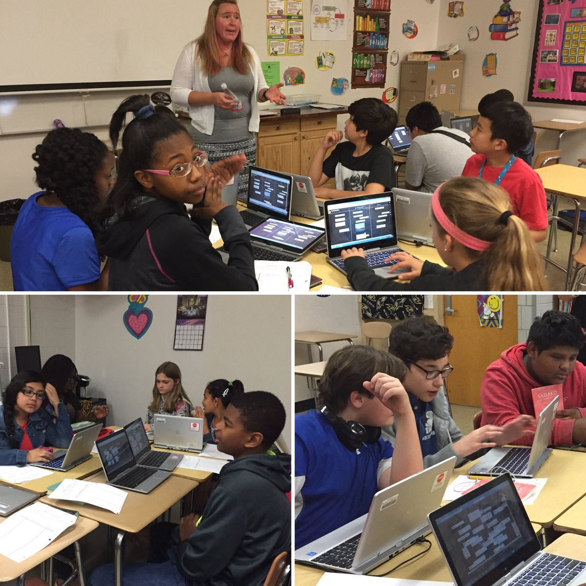 Self-selected groups collaborate & curate using @padlet to create graphic novels @DrPenK #bcpslh https://t.co/YOZIWdqQNA