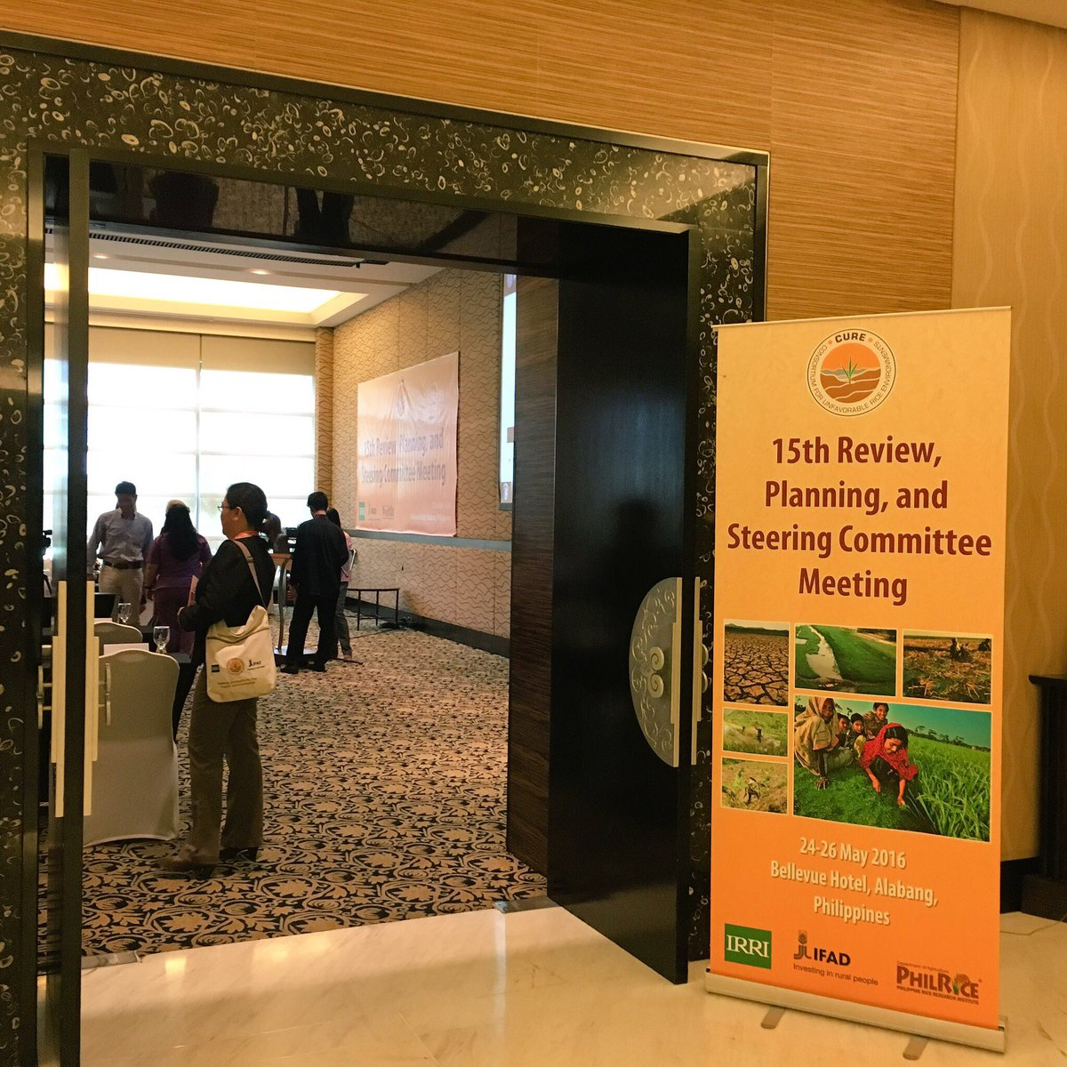 #TODAY: CURE's 15th Review, Planning, and Steering Committee Meeting #rice #foodsecurity #CURE2016 https://t.co/zT3booXNdB