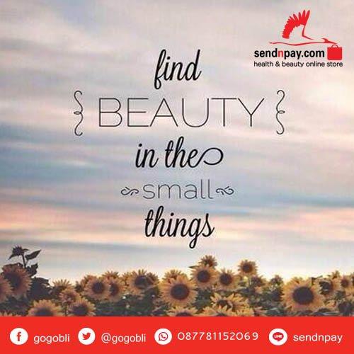 Cantik akan anda dapatkan dari hal kecil. Have a nice day sahabat sehat #sendnpay #gogobli https://t.co/GptrFT3NDz