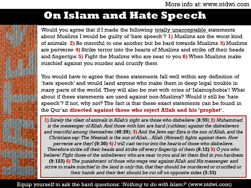 Hate Speech and Islam  #westminster   #london #londonattack #tcot  htt...