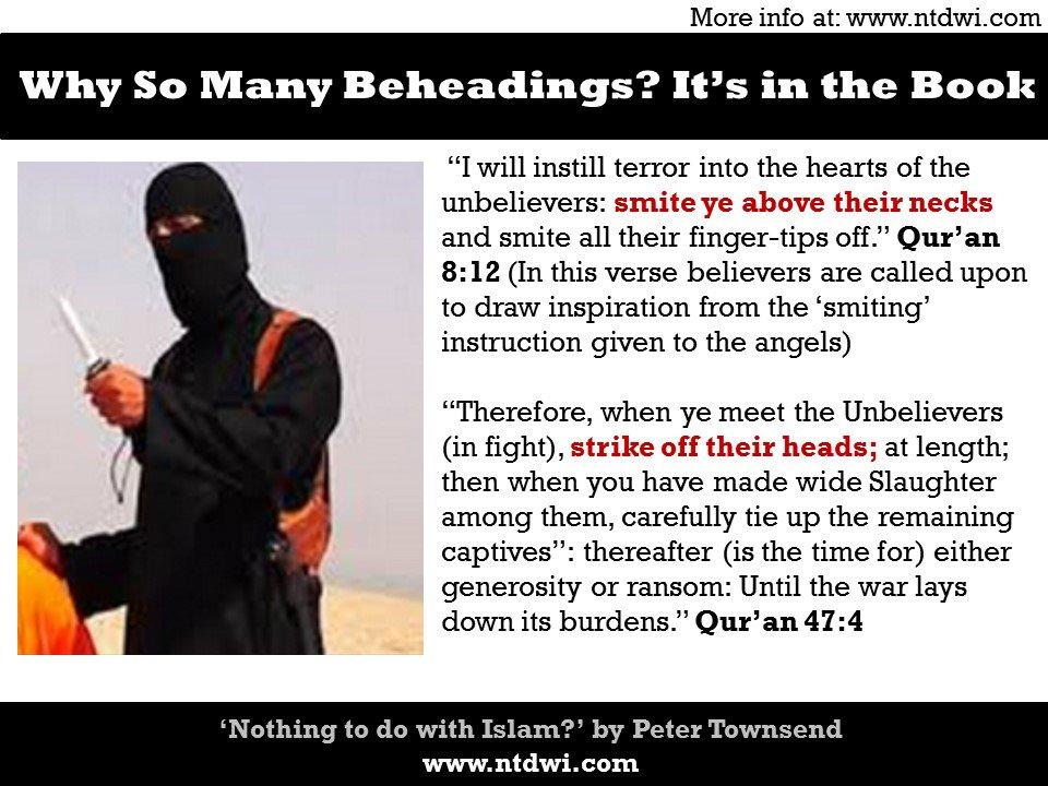 Why beheading? It is in the Book #parisattack    #paris #london #pjnet    http:// ptbooks.info/233-2  &nbsp;  <br>http://pic.twitter.com/unJjeWb6LI