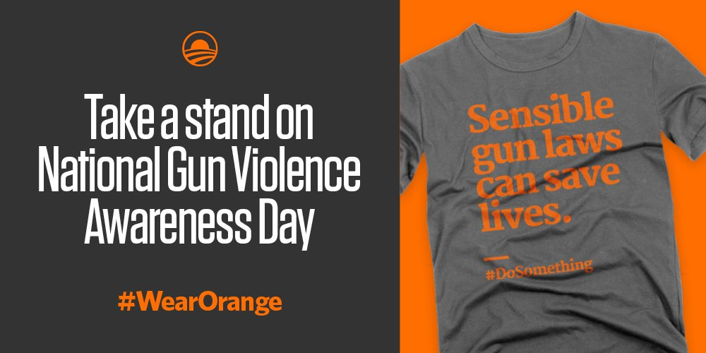 Speak up for sensible gun reform. #WearOrange on June 2. https://t.co/DAQpnotdPh https://t.co/Ea2aYaH0q3