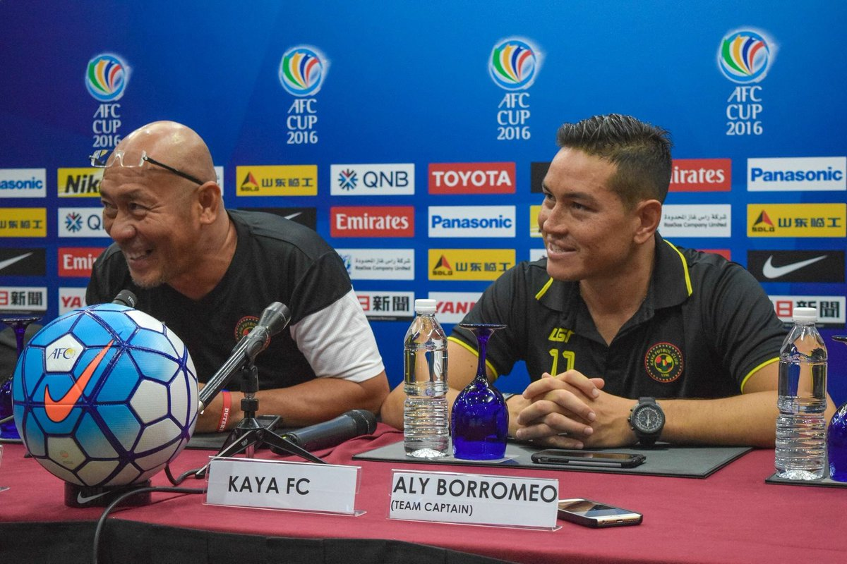 Coach Joel and Aly Borromeo during the prematch press conference. Watch the game live on Fox Sports 3 tomorrow. https://t.co/EFLMEbREdK