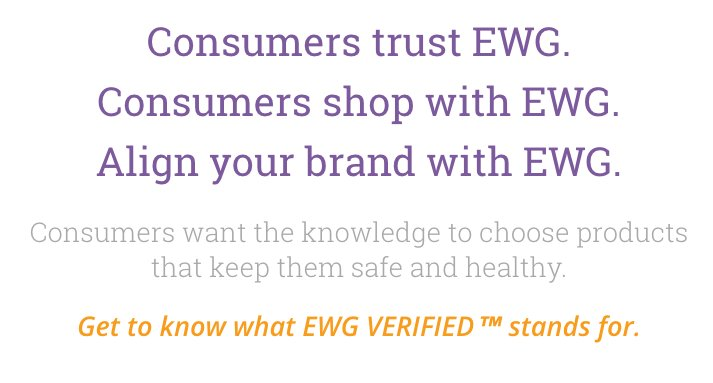 If you ever doubted that the EWG was really all about marketing, this screen shot should make it clear. https://t.co/LJFVhUWxHg