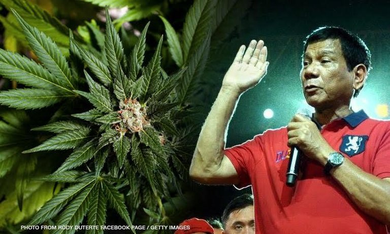 Duterte ok with medical marijuana